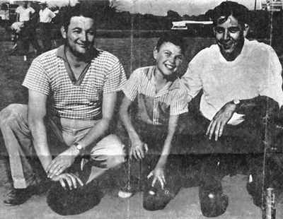1960 - Rolle Bolle tournament in Brooklyn, Iowa.